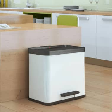 Hailo Cubo con pedal Oko Duo Plus tamaño L 17+9 L blanco 0630-230[8/10]