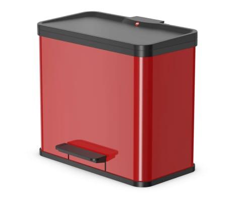 Hailo Cubo con pedal Oko Duo Plus tamaño L 17+9 L rojo 0630-240[1/9]