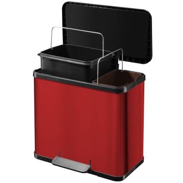 Hailo Cubo con pedal Oko Duo Plus tamaño L 17+9 L rojo 0630-240[7/9]