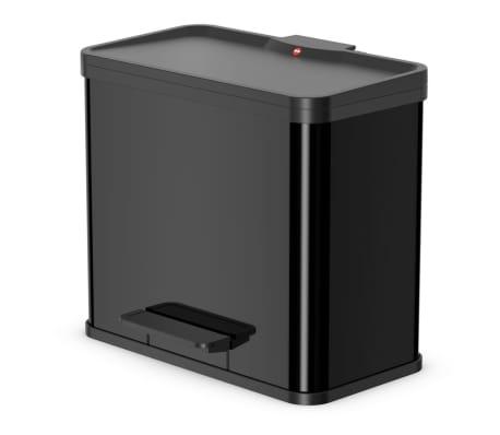 Hailo Papelera con pedal Oko Duo Plus tamaño L 17+9 L negro 0630-260