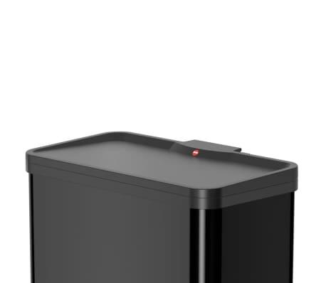 Hailo Papelera con pedal Oko Duo Plus tamaño L 17+9 L negro 0630-260[2/9]