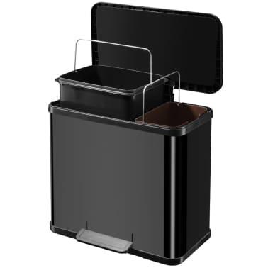 Hailo Papelera con pedal Oko Duo Plus tamaño L 17+9 L negro 0630-260[7/9]