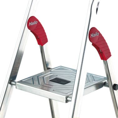 hailo haushaltsleiter l60 3 stufen 125 cm aluminium 8160 307 g nstig kaufen. Black Bedroom Furniture Sets. Home Design Ideas