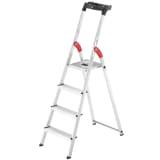 Hailo Stepladder L60 4 Steps 146 cm Aluminium 8160-407