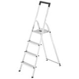 Hailo Haushaltsleiter L40 4 Stufen 146 cm Aluminium 8140-407