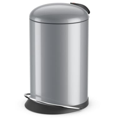 Hailo Cubo de basura pedal TopDesign tamaño M 13 L plateado 0514-450[1/6]