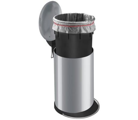 Hailo Cubo de basura pedal TopDesign tamaño M 13 L plateado 0514-450[5/6]