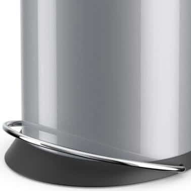 Hailo Cubo de basura pedal TopDesign tamaño M 13 L plateado 0514-450[4/6]