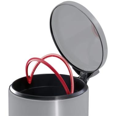 Hailo Cubo con pedal T2 tamaño L 19 L acero inoxidable 0520-039[4/8]