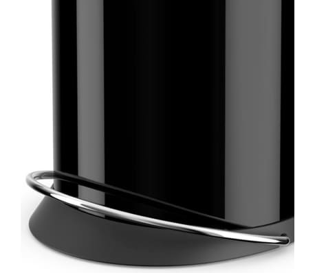 Hailo Cubo de basura con pedal TopDesign tamaño M 13 L negro 0516-510[4/6]