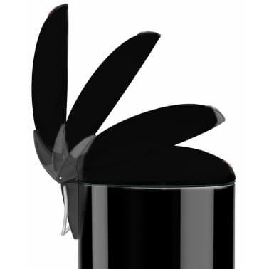 Hailo Cubo de basura con pedal TopDesign tamaño M 13 L negro 0516-510[2/6]