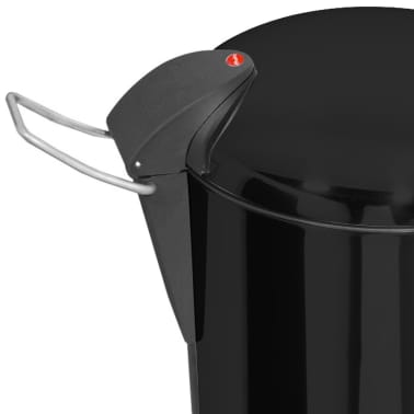 Hailo Cubo de basura con pedal TopDesign tamaño M 13 L negro 0516-510[3/6]
