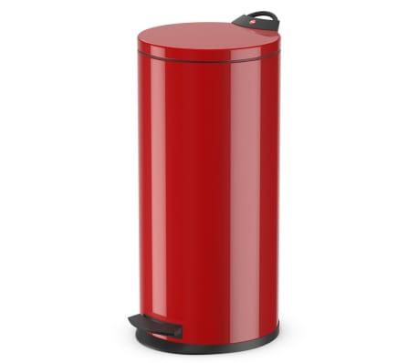 Hailo Kosz na śmieci z pedałem T2, rozmiar L, 19 L, czerwony, 0520-839[1/9]