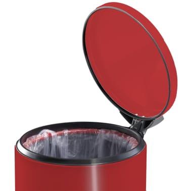 Hailo Kosz na śmieci z pedałem T2, rozmiar L, 19 L, czerwony, 0520-839[5/9]