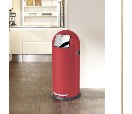 Hailo Cubo  de basura con pedal KickMaxx XL 36 L rojo 0850-579[3/8]