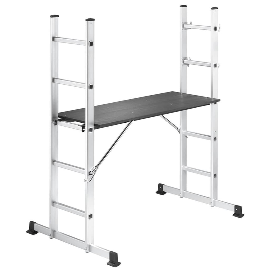 Afbeelding van Hailo Ladder/steiger set ProfiStep 86 cm aluminium 1055-001