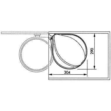 Hailo Papelera de armario Compact-Box tamaño M 15 L blanca 3555-001[6/7]