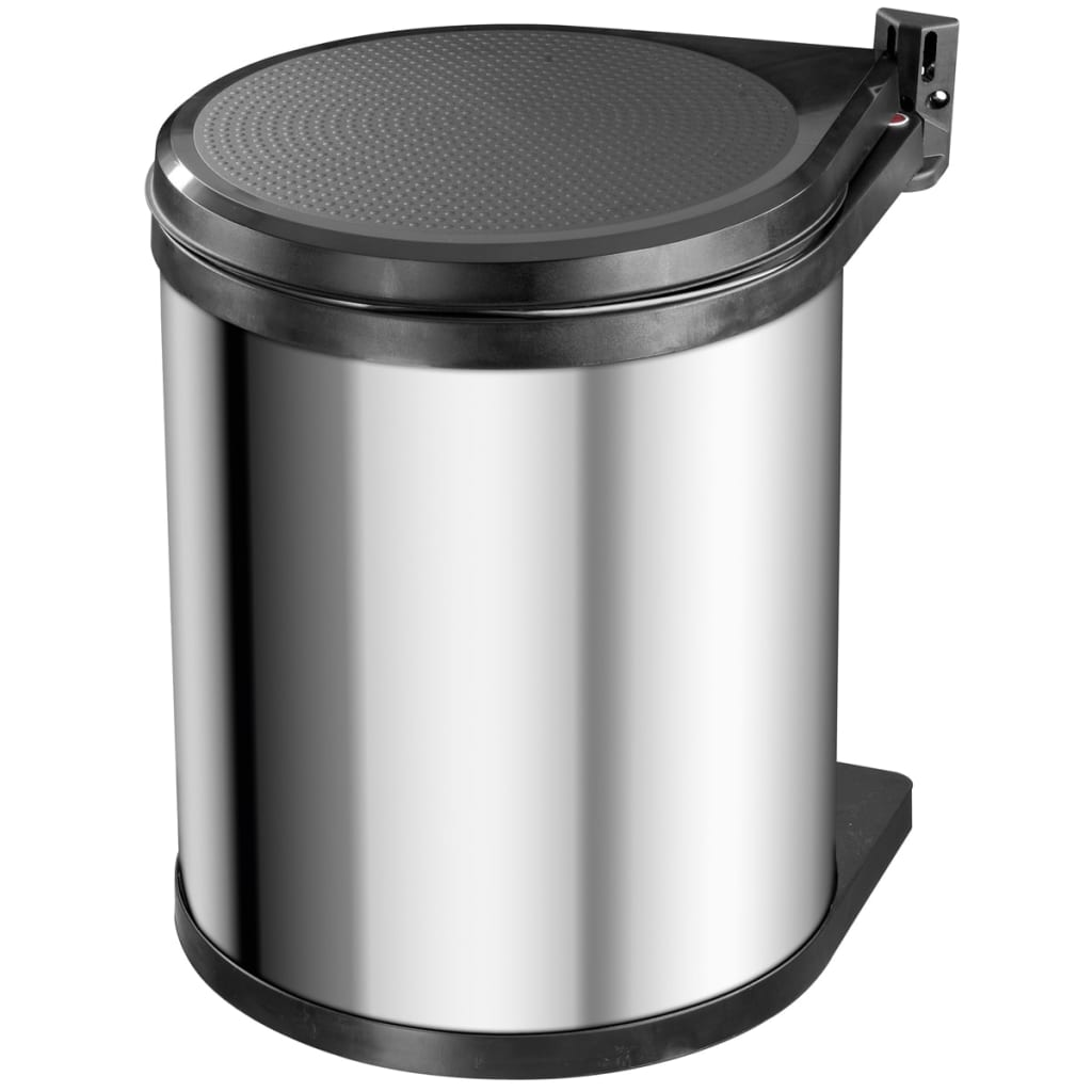 Hailo Coș de gunoi dulap Compact-Box M 15 L oțel inoxidabil 3555-101 vidaxl.ro