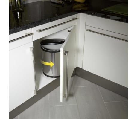 Hailo Papelera de armario Compact-Box tamaño M 15L acero inox 3555-101[2/8]