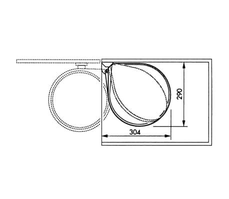 Hailo Papelera de armario Compact-Box tamaño M 15L acero inox 3555-101[7/8]