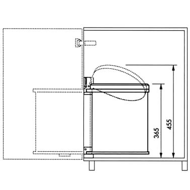 Hailo Papelera de armario Compact-Box tamaño M 15L acero inox 3555-101[6/8]