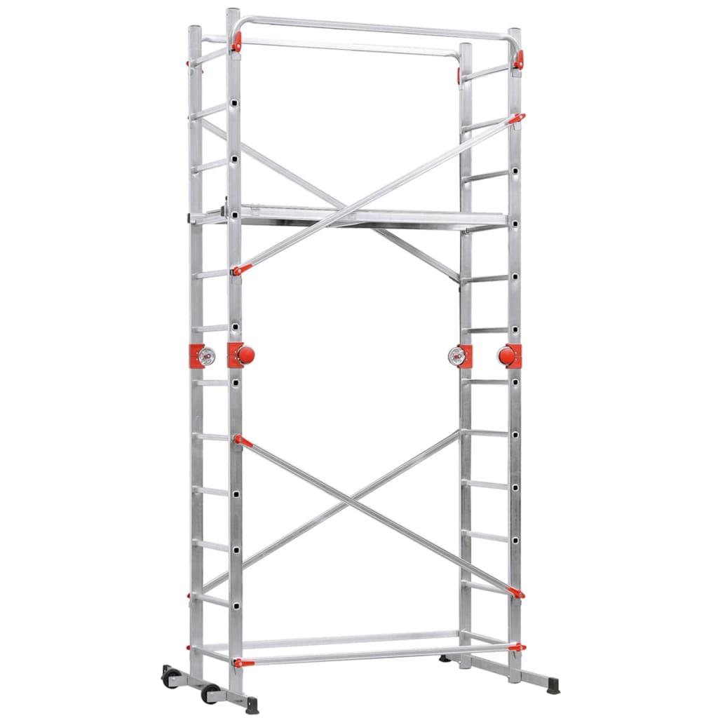 Afbeelding van Hailo Steiger en ladder 1-2-3 500 Combi 324 cm aluminium 9459-501
