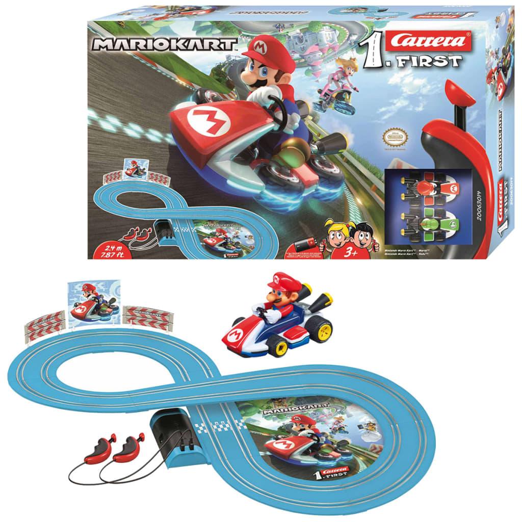"Carrera FIRST Slot Set mașinuțe și pistă ""Mario Kart"" 1:43 20063014 vidaxl.ro"
