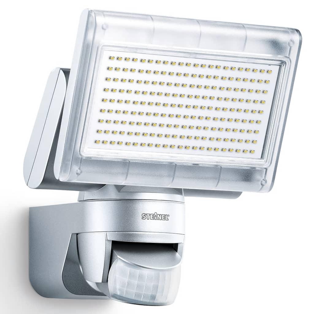 Reflector cu senzor cu LED Proiector cu XLED pentru casă Argintiu imagine vidaxl.ro