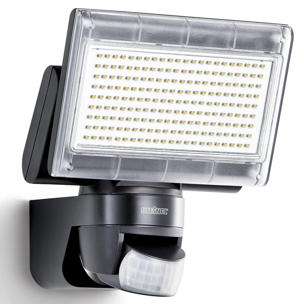 Reflector cu senzor cu LED Proiector cu XLED pentru casă Negru imagine vidaxl.ro