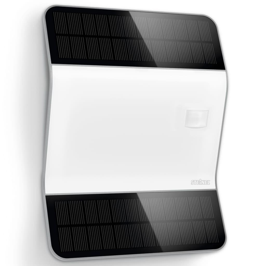 Afbeelding van Steinel XSolar L2-S zilver led-buitenlamp met sensor