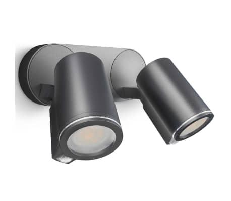 Steinel Sensor-Außenstrahler Spot Duo Sensor Schwarz