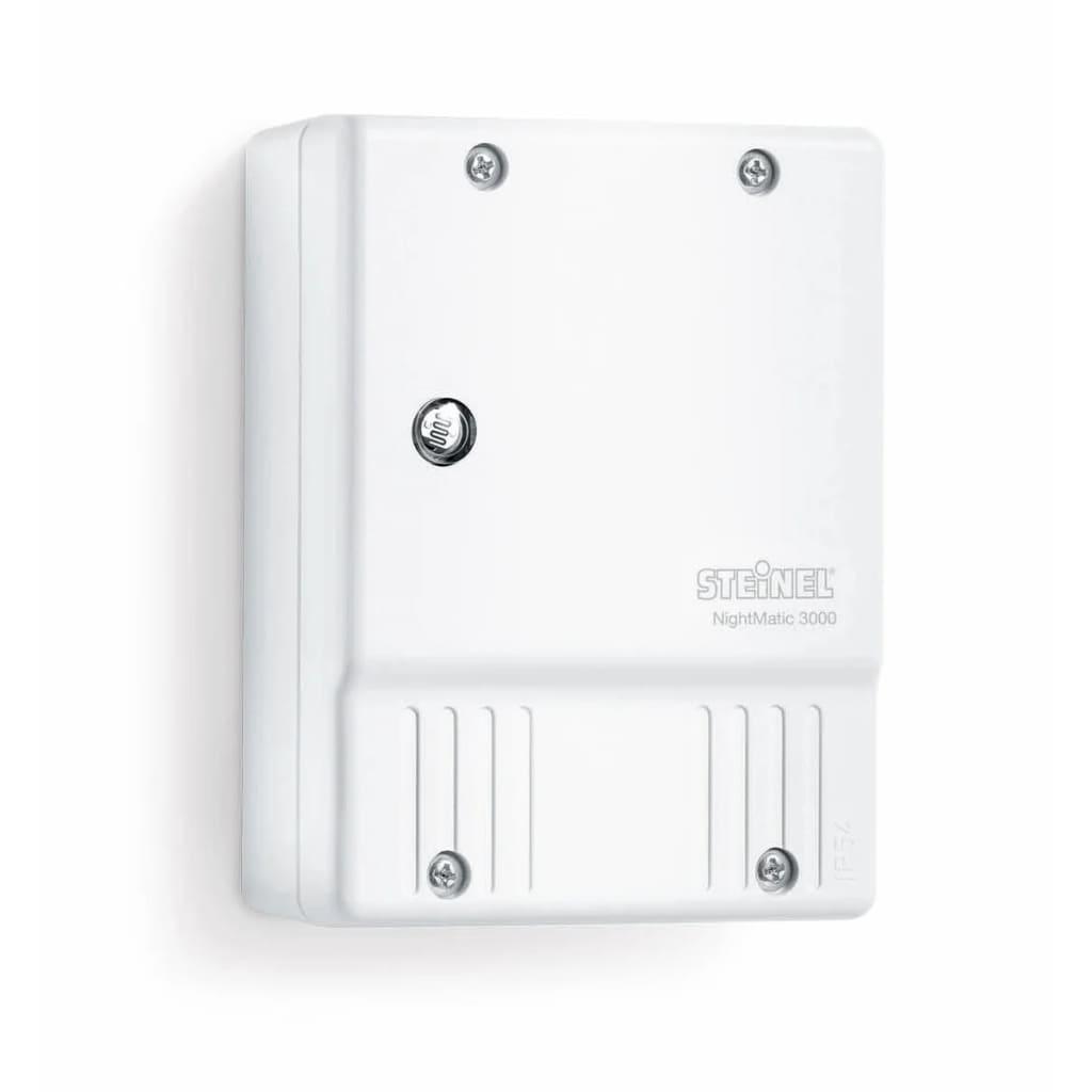 Steinel Dispozitiv control Lumină Fotoelectrică NightMatic 3000 Alb imagine vidaxl.ro