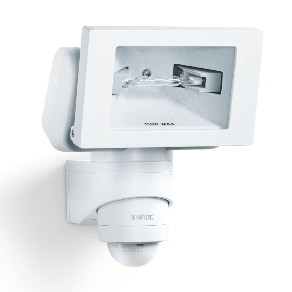 Steinel Reflector de exterior cu senzori HS 150 DUO, alb imagine vidaxl.ro