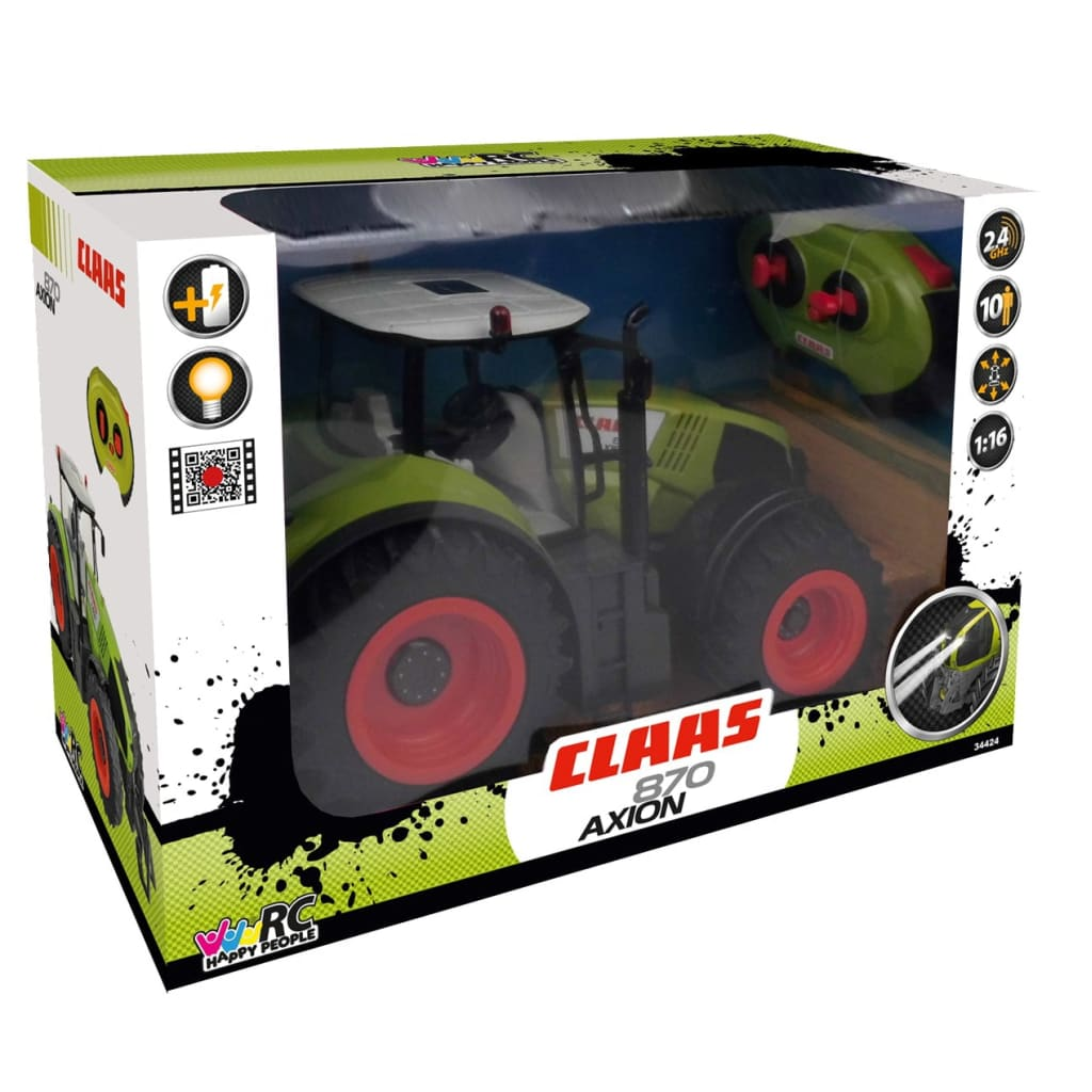 Happy People Tractor radiografisch bestuurbaar Claas Axion 870 1 16