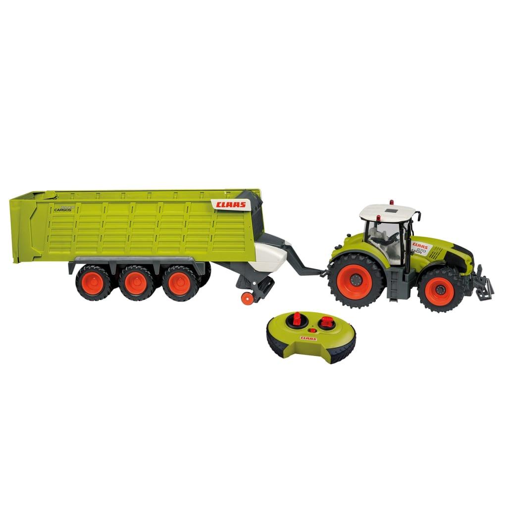 CLAAS Tractor jucărie cu remorcă AXION870 și CARGOS9600 1:16 vidaxl.ro