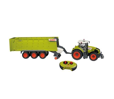 CLAAS Tractor con remolque teledirigido AXION870 y CARGOS9600  1:16
