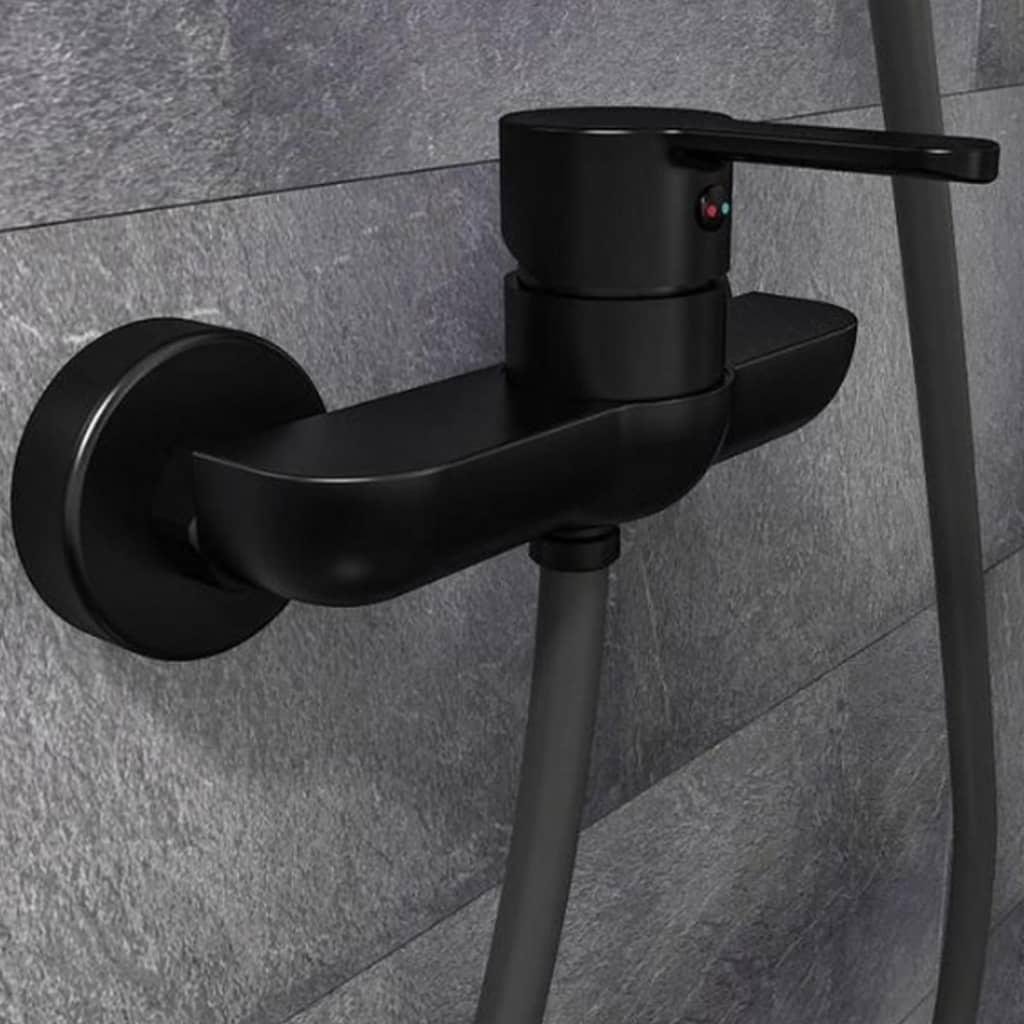 SCHÜTTE Baterie mixer de duș DENVER, negru mat imagine vidaxl.ro