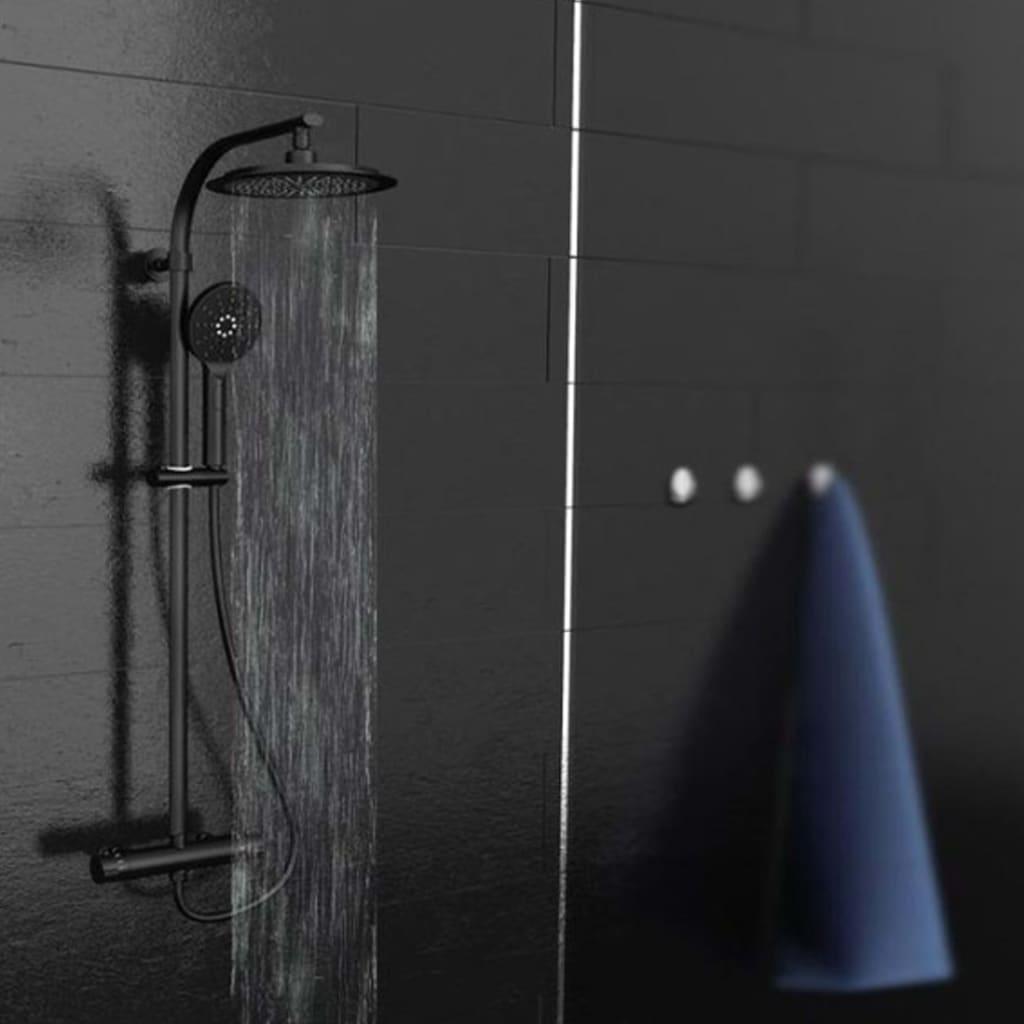 SCHÜTTE Set de duș deasupra capului MADURA FRESH negru mat vidaxl.ro