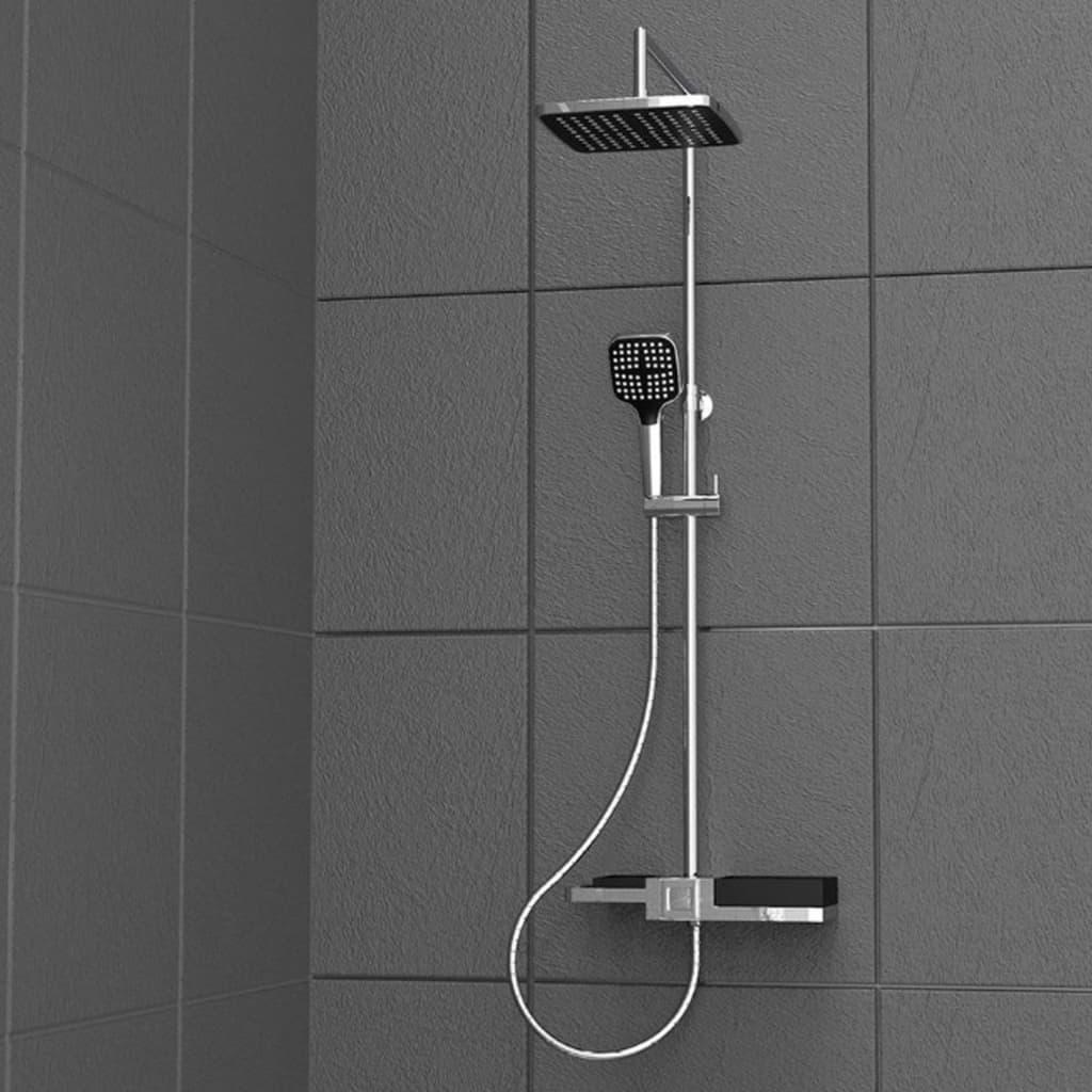 SCHÜTTE Set de duș deasupra capului BLUEPERL crom poza vidaxl.ro