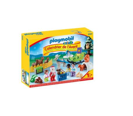 9391 Playmobil Calendrier Avent 1.2.3 'Père Noël animaux forêt 0819[1/3]