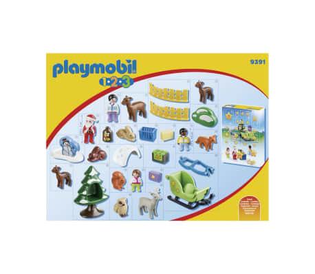 9391 Playmobil Calendrier Avent 1.2.3 'Père Noël animaux forêt 0819[2/3]