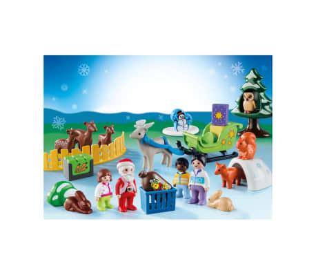 9391 Playmobil Calendrier Avent 1.2.3 'Père Noël animaux forêt 0819[3/3]