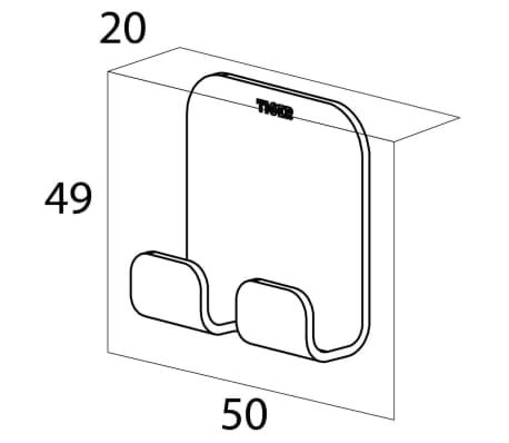 tiger doppel handtuchhaken colar ohne bohren chrom. Black Bedroom Furniture Sets. Home Design Ideas