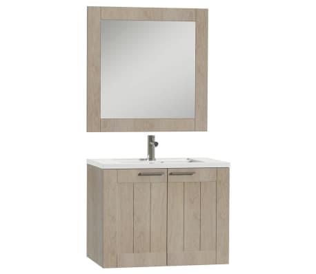 Tiger Badkamer meubelset Frames 80 cm eikenhout wit 1646323740 ...