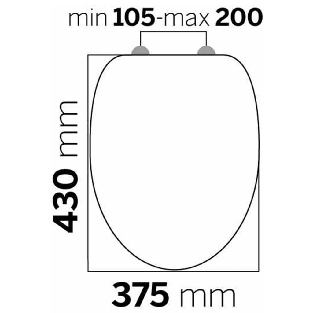 Tiger Soft-close toiletbril Douglas MDF lichtbruin 251675346