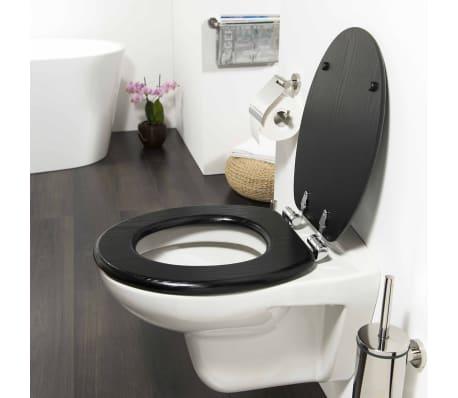 Tiger Soft Close Toilet Seat Blackwash Mdf Black 252030746