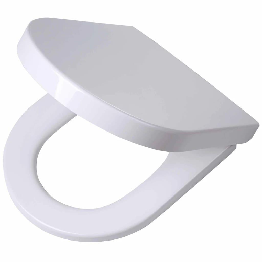 Afbeelding van Tiger Soft-close toiletbril Memphis Duroplast wit 252930646