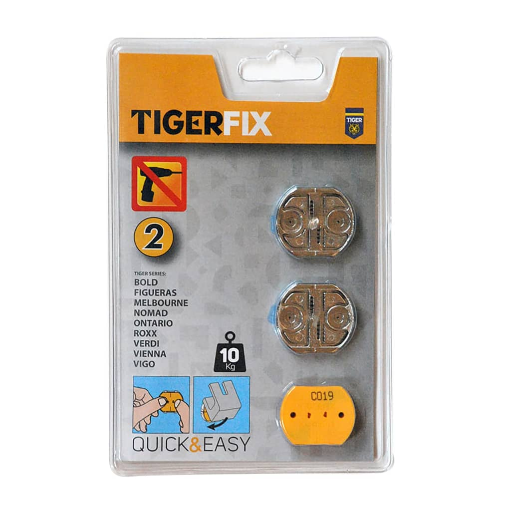 Afbeelding van Tiger badkamer montagemateriaal Fix 2 metaal 398634146