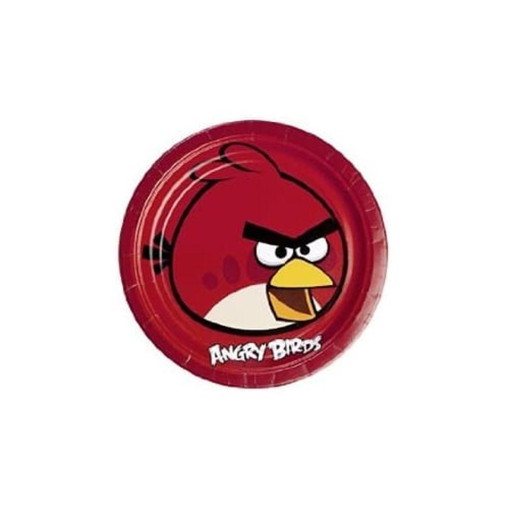 Afbeelding van Angry Birds feestborden 23 cm 8 stuks rood