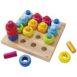 HABA Stacking Game Rainbow Whirls 002202